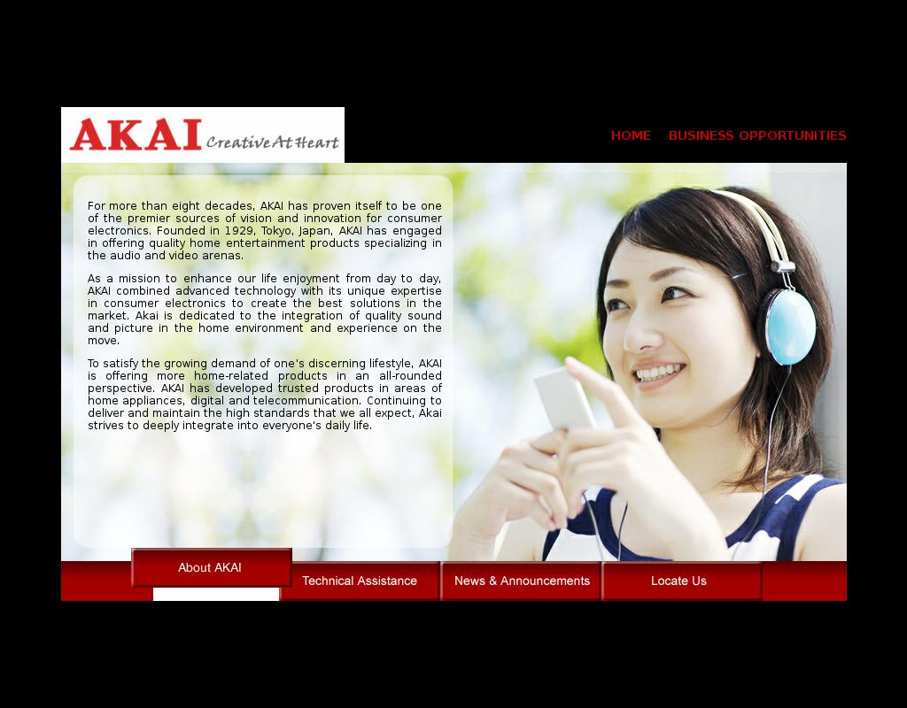 Akai homepage
