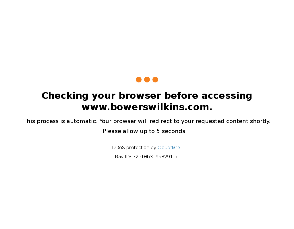 Bowers & Wilkins homepage
