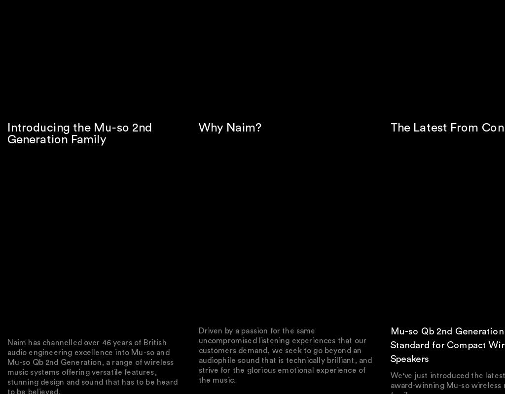 Naim homepage