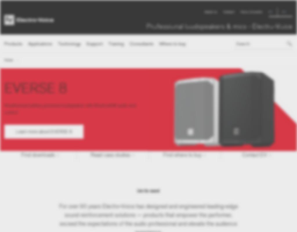 Electro Voice homepage